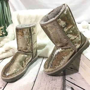 Ugg iconic sequin sparkle classic short boots